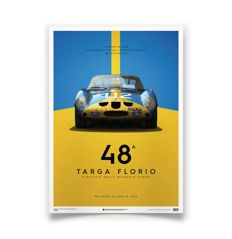 Ferrari Collection - fine art print - Ferrari 250 GTO #112 – Targa Florio 1964 - 70 cm x 50 cm