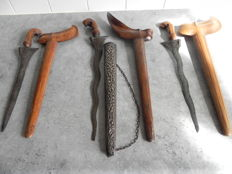 3 x antique kriss - Indonesia - ca. 1920