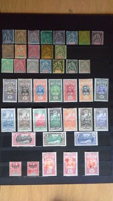 French Oceania 1892/1937 - Stamps from the French Colonies, Years Yvert and Tellier 1 to 83, except for no. 45.