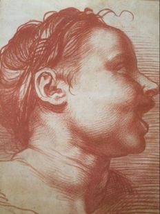 Lithography by, Bargue, after Andrea del Sartro