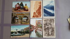 Lot with foreign postcards from France, Belgium, England, Canada and other countries 185X