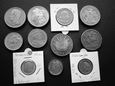 World - lot of 17 silver coins