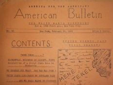Antisemitism; America for the Americans: American Bulletin. The white man's viewpoint - 1936