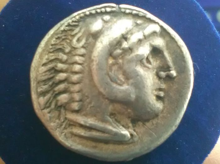 Greek Antiquity - Alexander the Great. AR tetradrachm, post 280 BC. Eastern Celtic immitation