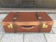 Automobile suitcase - convertible suitcase - vintage suitcase for sports car