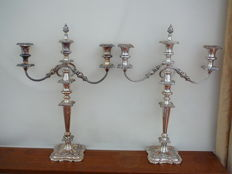Fine pair of late 19th century English candelabra