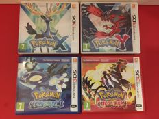 Nintendo 3DS - 4 Pokémon games