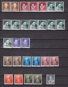 Spain 1951/1956 – Set of complete series in stock book.