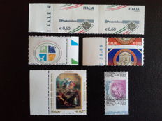 Republic of Italy 2003/2010 - lot of 6 stamps, different varieties