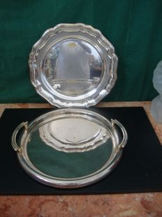 Silver plated Serving Tray and Plate