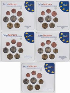 Germany – Year sets 2002A, D, F, G and J (5 different sets)