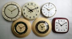 Lot of 6 clock mechanisms – Era: 1950/1965