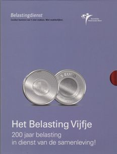 The Netherlands – 5 Euro 2006, 200 years Tax Authority, in a special edition with a letter from  Minister Zalm, who was minister at that time.