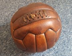 Football - Vintage rare football ball, made of leather