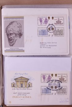 World 1941/1980 - Batch of FDCs and covers in 12 albums and separate