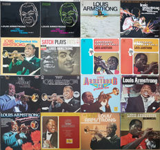 Louis Armstrong collection: 16 lp albums in topconditie, incl. rare releases