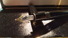 Montblanc Meisterstück 146 fountain pen - 14k solid gold nib - with original box and two Ink-Bottles in Mindnight Blue 50ml **no reserve**