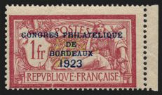 France 1923 - Philatelic Convention of Bordeaux – Yvert 182
