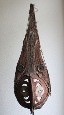 Very Old, Large Yam Mask - Southern Abelam Region - Papua New Guinea