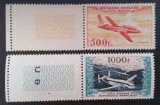 France 1954 – Airmail, prototypes, signed Calves with digital certificate – Yvert 32 and 33.