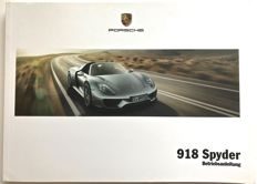 Original Porsche 918 Spyder manual in German
