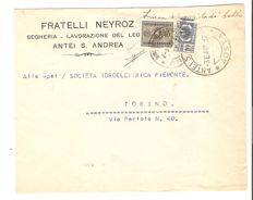 Italy, RSI, 1944 – Emergency franking with 40 cents and left part of a 10 cents stamp for parcels