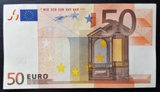 European Union - Ireland - 50 Euro 2002 - Duisenberg - without  Hologram  -  ERROR  note