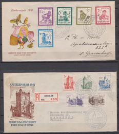 The Netherlands 1950/1951 - FDC Child and Summer - NVPH E4 + E5