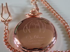 John Lennon 18k rose gold plated pocket watch.