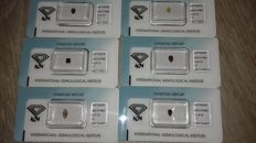 Diamond collection, fancy colours, 6 pieces