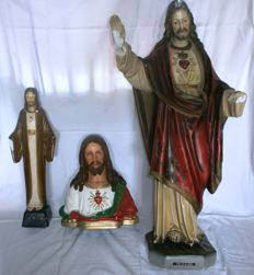 Old Church statues Sacred Heart