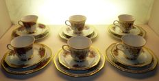 Winterling Marktleuthen Bavaria - coffee set 18 pieces-roses & gold decor
