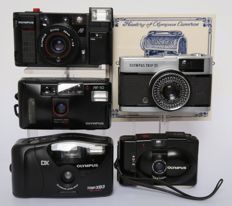 5 Olympus compact camera's