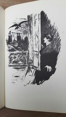 Edgar Allan Poe - The Raven / Le Corbeau - French Translation by Stéphane Mallarmé with Illustrations by Eduard Manet - 1968