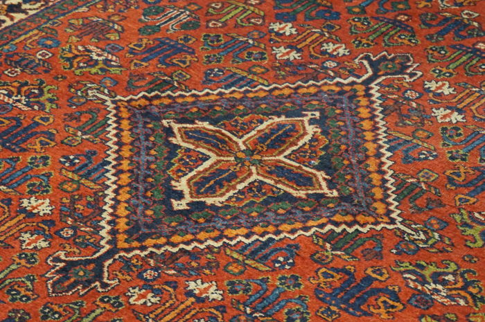 Old Persian carpet Mey Mey 130 x 200 cm naturally coloured, made in Iran