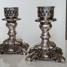 Beautiful silver plated candle stands.
