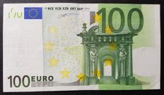 Europen Union - SPAIN - 100 Euro 2002 - Duisenberg - without HOLOGRAM - ERROR note