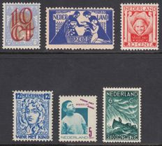 The Netherlands 1923/1933 - selection of 6 flaws