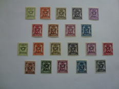 Belgium 1941 - typographically pre-cancelled stamps - Pre 455/474
