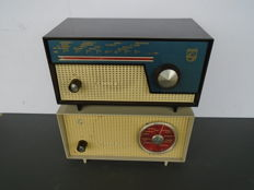 Two beautiful Philips radios Type BOX97U and BOX95U Eindhoven the Netherlands