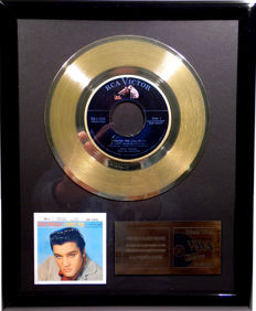 "Elvis Presley - Lovin You -  7"" Single RCA Records golden plated record by WWA Awards"