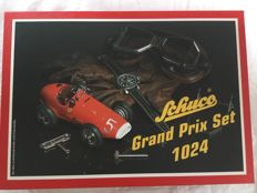 SCHUCO, Germany - Length 14 cm - Tin Grand Prix set 1024 with clockwork motor including Schuco wrist watch, 1990s