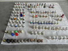 Collection of 130 different thimbles