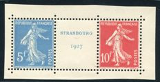 France 1927 – Stamp exhibition of Strasbourg – Yvert No. 242A.