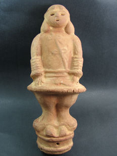 A terracotta Haniwa omiyage - Japan - mid 1970's to 1980's.