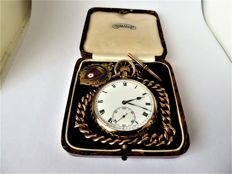 Rolex swiss gents pocket watch. Birmingham hallmarked, date- 1921-22. W {ref no 86}