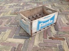 Original old wooden Fanta crate - 1962