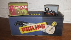 Philips and Baryam - New Old Stock, Classic car lights in nice original packaging. 12 lights in 13 boxes