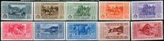 Kingdom of Italy, 1937-1941 - Selection of 4 Complete Series - Sassone Nos.  S87, S63, S84, and S96