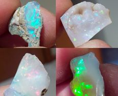 Untreated Opal Rough - 22,65 cts - 16 to 20 mm (4)